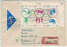 1964, 6er-blocco giochi estivi Tokyo con gliorare pionieri a R-lettera (porto equo)