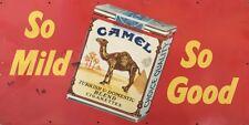 NEW Camel So Mild tin metal sign
