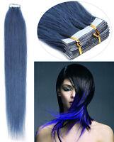 AAAAAA Remy Skin Weft Echthaar Tape In On Extensions Haarverlangerung 40cm-66cm