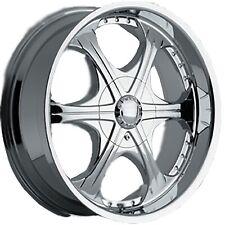 """22""""   22x9.5 Akuza wheels style EMR 344  Chrome finish 6 Lug  6x139.7 ET 18"""