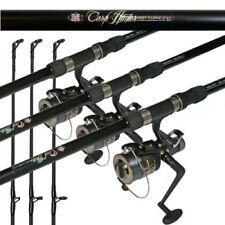 Carp Fishing Setup 3x 12ft 2 Piece Carp Rods 2.75lb & 3x Free Spool Runner Reels
