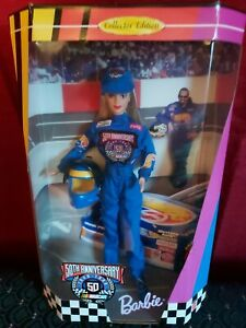 Mattel Barbie 50th Anniversary Nascar Collector Edition 1998 20442 Vintage NEW