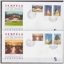 Surinam / Suriname 1998 FDC 216ab Tempel temple borobodur pagode