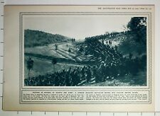 1915 WWI WW1 PRINT SERBIAN INFANTRY BATTALION MOVING INTO POSTION BEFORE ACTION