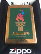 Olympic zippo lighter old olympics poster Atlanta
