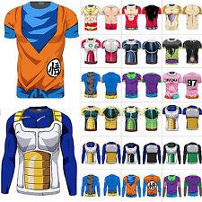 Hombre 3d Fitness Camisa Camiseta SAIYAN GOKU DBZ Compresión Dragón Ball Z COS