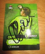 Chris Green (Australia) signed Sydney Thunder BBL Card + COA