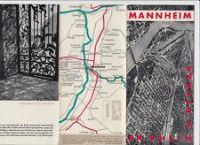älteres Faltblatt Mannheim an Rhein und Neckar 1955  Informationen alte Fotos