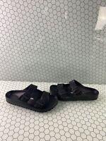 Birkenstock ARIZONA EVA Black Birko-Flor Buckle Slide Sandals Women's Size 41 M