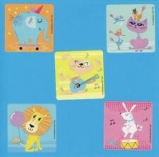 10 Playful Animals - Large Stickers - Elephant, Cat, Dog, Lion, Bunny Rabbit
