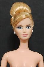 Nude Barbie Pink Ribbon Breast Cancer Blonde Updo Doll Lara Face OOAK