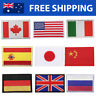 Country Flags Embroidered Patches Embroidery Patch USA Japan China Spain Italy