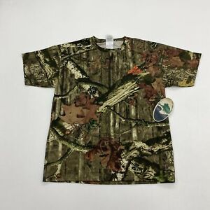 NWT Mossy Oak T-Shirt Youth L Green Brown Short Sleeve Camouflage Hunting Shirt
