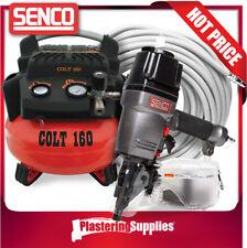 Senco  Colt  Coil Nail Gun Inc Air Compressor + 30m Air Hose Kit SCN58A-P COLT16