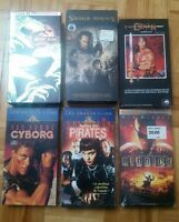 Lot 6 x VHS films movies Français French Jurassic Park, Conan, Cyborg, etc.