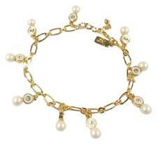 Kate Spade O0ru1446 Pearly Freude Anhänger Kristall Kette Armband Gold Nwt