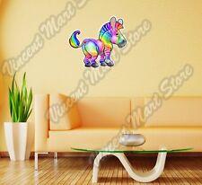 "Happy Multicolored Rainbow Zebra LGBT Wall Sticker Room Interior Decor 22"""