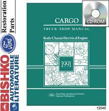 1991 Ford Cargo Truck Shop Service Repair Manual CD Engine Drivetrain Electrical