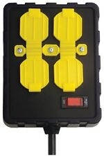 Over-Load Guard Flexible Black Yellow Extension Cord Built-In Circuit Breaker