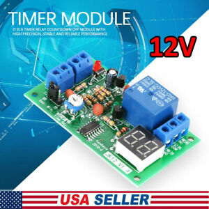 12V Timing Timer Delay Turn OFF Relay Switch Module LED Display Countdown