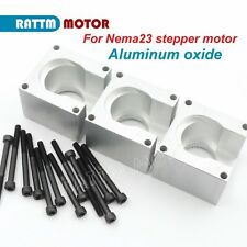 3 x Nema23 Stepper Motor Aluminum Bracket Mount Block Base Support w/ 12x Screws