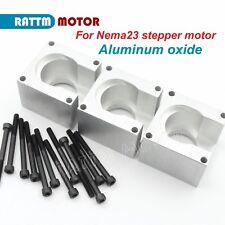 3x Aluminium Alloy Bracket Mounts Supportscrews For Cnc Nema23 57 Stepper Motor