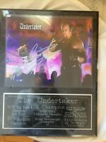 W.W.E The Undertaker  AUTOGRAPHED PHOTO PLAQUE  #2