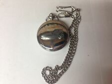 Bond Bug ref33 emblem on polished silver case pocket watch