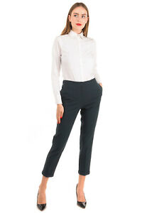RRP €160 BEATRICE .B Trousers Size 42 / S Stretch Wool Blend Made in Italy