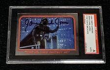 "JAMES EARL JONES ""DARTH VADER"" 1999 TOPPS CHROME STAR WARS SIGNED AUTO CARD SGC"