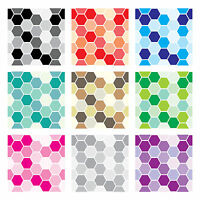 Tile Stickers Transfers Kitchen Bathroom 150mm & Custom Sizes - Mosaic Hexagon