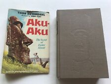 Aku Aku The Secret of Easter Island by Thor Heyerdahl HC/DJ 1958