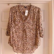 Torrid Harper Blouse Pullover Roll Tab Sleeve 3 3X  22-24 Leopard Print