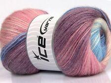 Lot of 4 x 100gr Skeins Ice Yarns MOHAIR MAGIC GLITZ (20% Mohair 20% Wool) Wo...