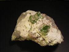 Best Quality Peridot Crystal Specimen on Clay 65x90x55mm Natural Gemstone 458g