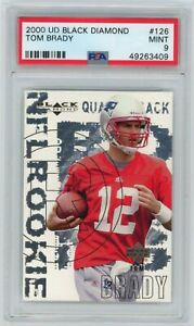 2000 Black Diamond TOM BRADY New England Patriots RC Rookie 126 Card PSA Mint 9