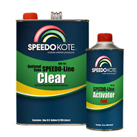 Automotive Clear Coat Fast Dry 2K Urethane, 4:1 Gallon Clearcoat Kit w/Fast Act.