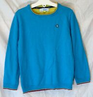 Boys Ted Baker Aqua Blue Soft Merino Wool Blend Thin Knit Jumper Age 5-6 Years