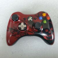 Microsoft Xbox 360 GEARS OF WAR Crimson Red COLLECTIBLE Controller - TESTED