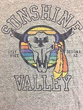 Sunshine Valley Shirt Cattle Skull Sedona Arizona Junk Food Rainbow Harley Punk