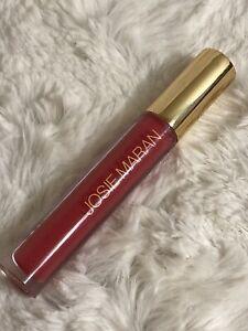 NEW Josie Maran Argan Oil Natural Volume Lip Gloss Full Size SUNSET GLOW Pink