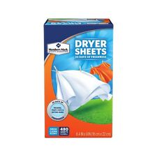 (480 SHEETS) FRESH CLEAN SCENTED LAUNDRY FABRIC SOFTENER SHEETS SUPPORTS CHARITY