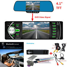 "4.1"" Car MP5 Player Video Radio Bluetooth TFT Screen +Rear View Camera Universal"