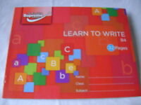 NEW ONE A5 LEARN TO WRITE EXERCISE BOOK NARROW LINES HANDWRITING PRACTICE RED B4