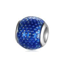 European 925 Silver CZ Fine Charm Beads Pendant Fit 925 sterling Bracelet Chain