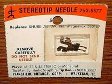 Phonograph STEREO NEEDLE 753-SS77 for SHURE A-9,-10,-10S,D,-10SD A-9,-10, PC-2