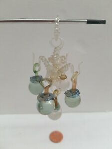 Chandelier Miniature Dollhouse Colored Glass Marbles Vintage