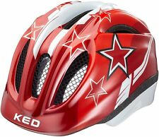 KED Helm  Fahrradhelm Kinderfahrradhelm Red Stars rote Sterne  Gr. M neu