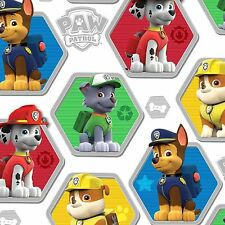Paw Patrol To The Rescue Puppies White 100% Cotton Fabric by the Yard