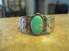 Sterling Royston Turquoise Thunderbird Bracelet Fine Old Fred Harvey Era Navajo